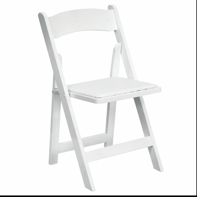White Folding Chair for rent