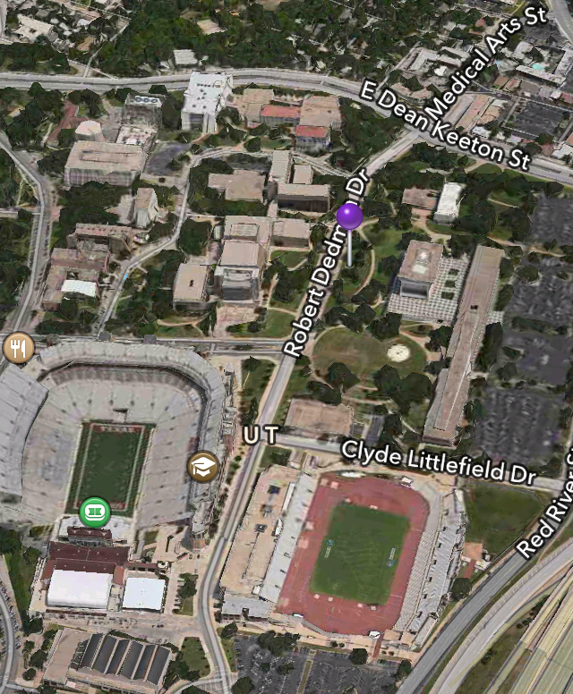 University of Texas Tailgating Map