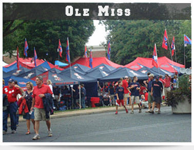 Official Tailgating vendor at Ole Miss